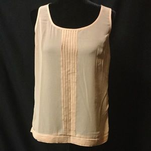 Tan Sheer Top With Buttons On The Back
